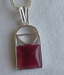 Mini red window pendant