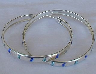 Light blue&blue hoops