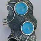 Onyx turquoise  ring
