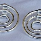 3hoops  silver earrings