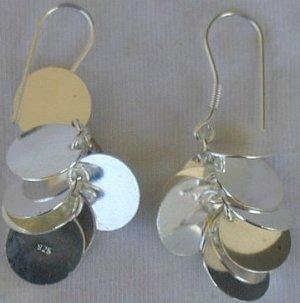 Silver grapes earrings