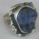 Raw lapis ring