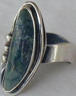 Greenish hand made ring