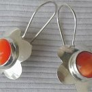 Orange flowers earrings