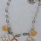 Cooper&silver& golden key holder necklace