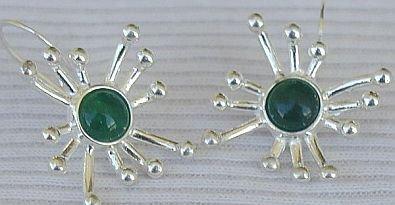Green prickle earrings