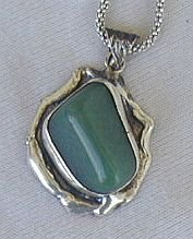 Hand made green pendant-HP4