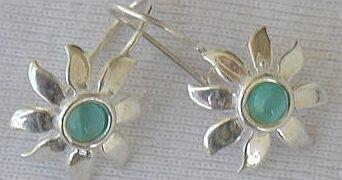 Mini light blue sun earrings