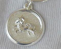 Aries round pendant