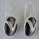 Purple with silver earrings