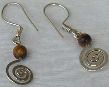brown greek earrings