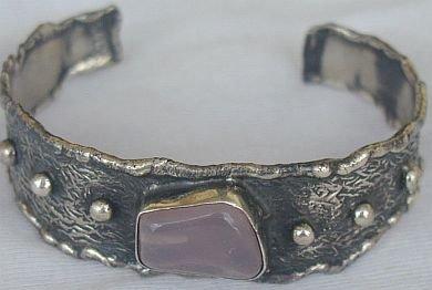 Amethyst bangle silver