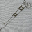 Silver ladder necklace