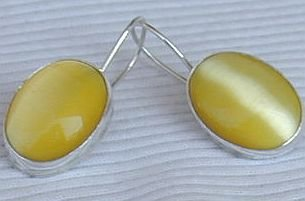 Strong yellow earrings