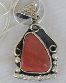 Blood stone pendant-P74
