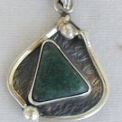 Green- pendant-D-hand made