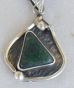 Green- pendant-D-hand made