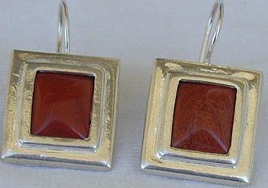 Blood stones earring-D