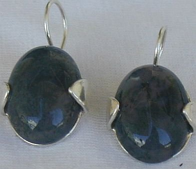 Malaysian oval earrings
