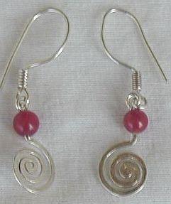 Silver Greek  earrings-A