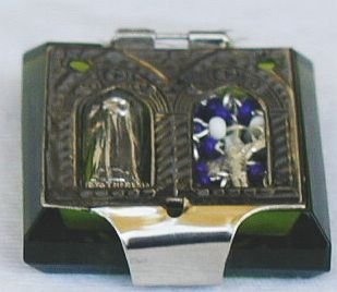 Mini peridot Rosary box-C