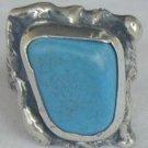 Turquoise pressed stone ring-HMTP