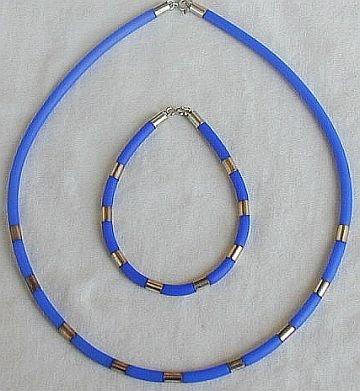Light blue necklace and bracelet