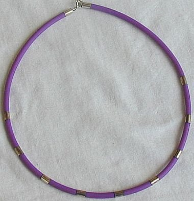 Purple caucciu necklace