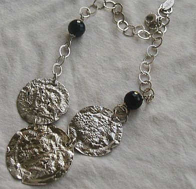 Armenian silver necklace-3rounds