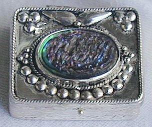Mini box with colored glass