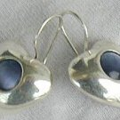 gray -blue hearts earrings