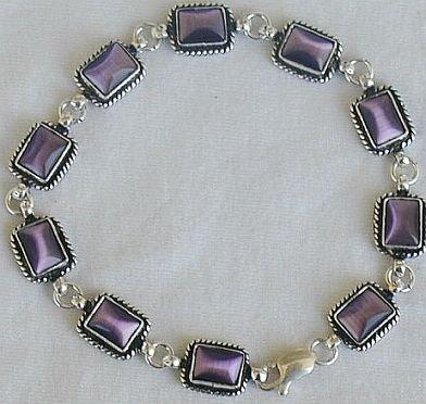 Purple square bracelet