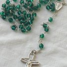 Dark green rosary