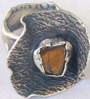 Brown flower ring-SR21