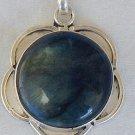 Greenish glass pendant