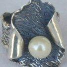 White pearl handmade ring-PL2