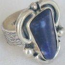 Blue ring handmade-LAP11