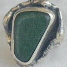 Green glass handmade ring-SR46