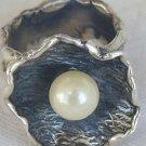 White pearl ring-Handmade-SR154