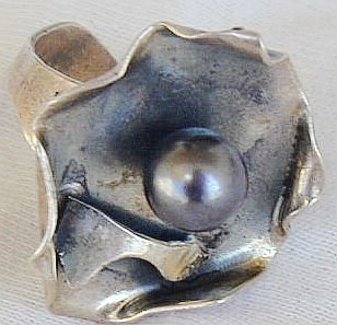 Black pearl ring-S52