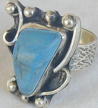 Turquoise press ring-SR65