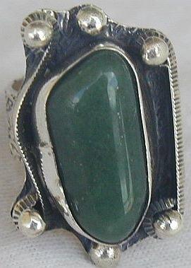 Green agate ring-SR63
