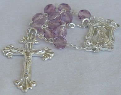 Mini purple Rosary -C