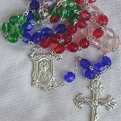 Colored glass beads Rosary