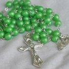Green metal Rosary-B