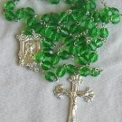 Shiny green rosary