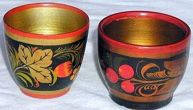 Decorative pair miniature flower pots