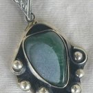 Green glass pendant-PHM-77