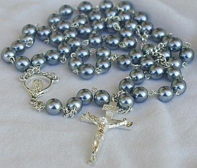 Grey pearls rosary