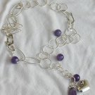 Amethyst&silver necklace